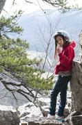 Rock Climbing Photo: My daughter facing discrepancy