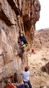 Rock Climbing Photo: Starting Solitary Confinement (5.12a) on Predator ...