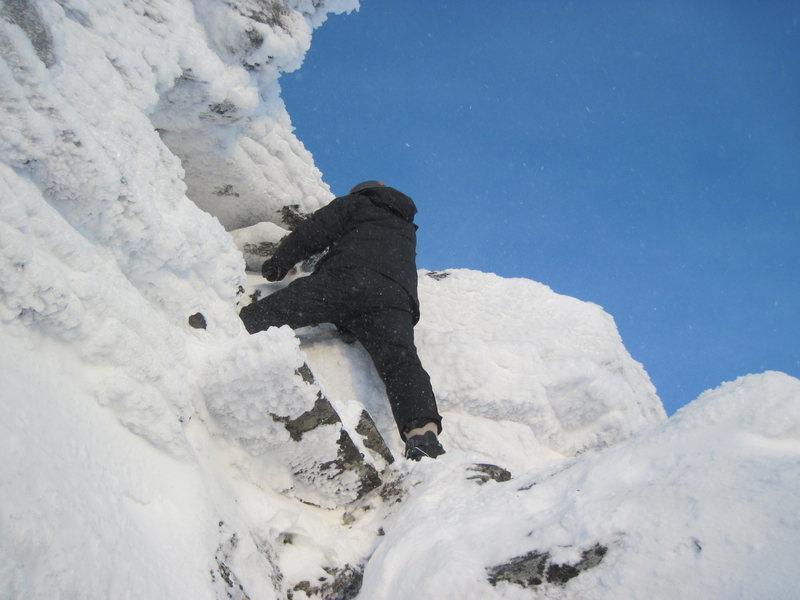 Mix climbing in Nome (King Mountain)
