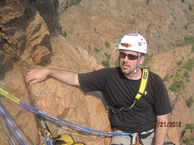 Rock Climbing Photo: Rough day at the office:  Chillin' at 2nd belay st...