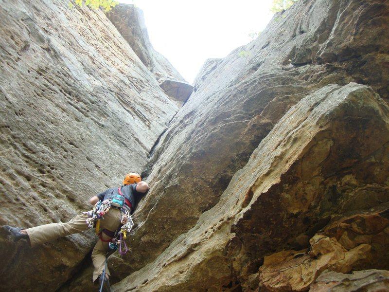 Rock Climbing Photo: Diamond in the Crack (5.6), Jewel Pinnacle, Red Ri...