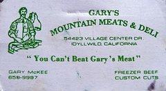 Rock Climbing Photo: Gary's Mountain Meats & Deli, Idyllwild