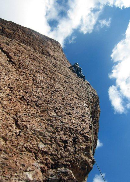 Rock Climbing Photo: about halfway up