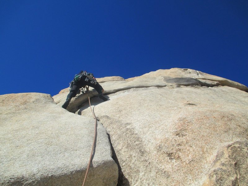 Starting up Toe Jam in Joshua Tree. What a fun, mellow route with good pro! Makes me like J-Tree more. ; )<br> <br> [Feb. 2013]