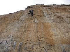Rock Climbing Photo: Nate working the final 1/3 of the ladder. (2/10/20...