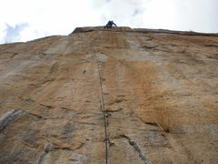 Rock Climbing Photo: The crux of the ladder is moving onto the 2 bolts ...