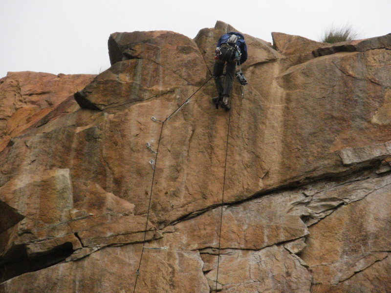 Rock Climbing Photo: The 2nd anchor is a hanging belay as you can see h...