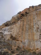 Rock Climbing Photo: A shot showing how far the bolt ladder is to the l...