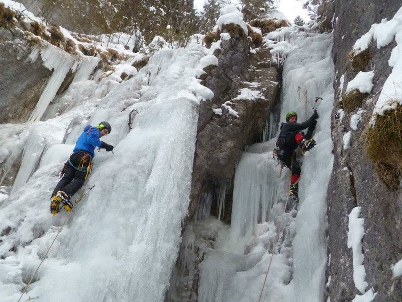 Rampe and Rampecouloir (with rarely seen ice-heel hook!)