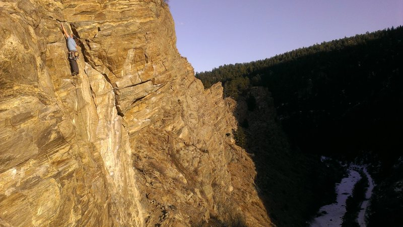 Rock Climbing Photo: Black Dog, 9+.