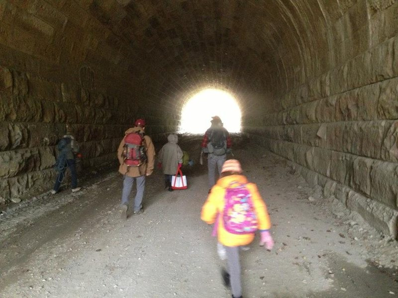 the tunnel at the far side parking