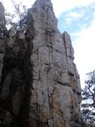 Rock Climbing Photo: Brown Rocks has some harder vertical to overhangin...