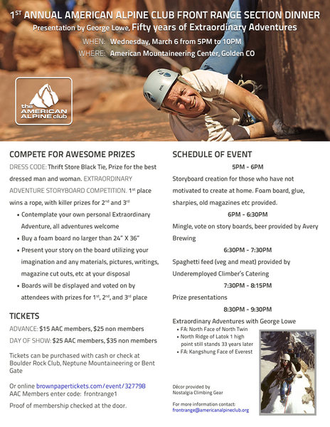 Rock Climbing Photo: AAC Dinner poster