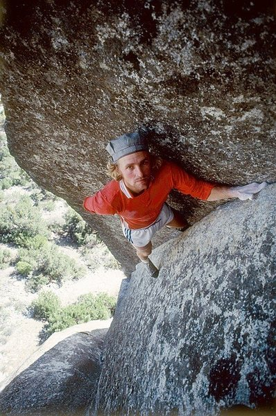 John Bachar Soloing New Dimensions Photo By Phil Bard