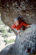 Rock Climbing Photo: John Bachar soloing New Dimensions - Photo by Phil...