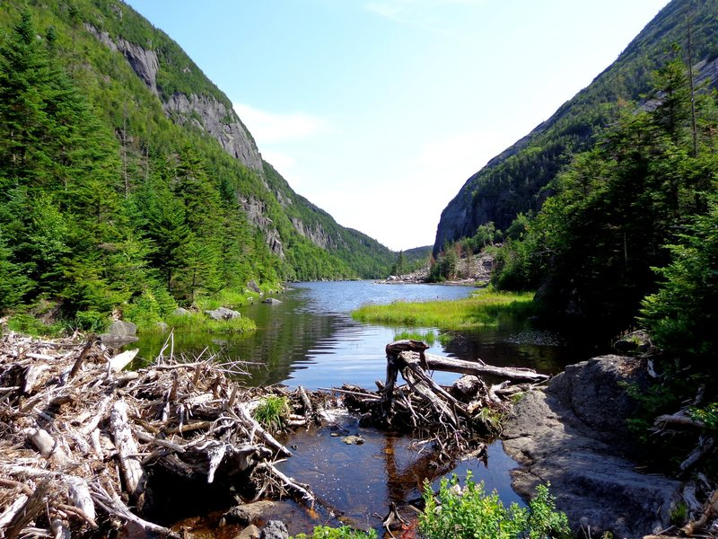 Rock Climbing Photo: from the southern end of Avalanche Lake