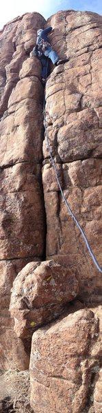 Rock Climbing Photo: Whole climb....