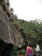Rock Climbing Photo: Overhang wall, right side