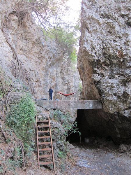 Main climbing area