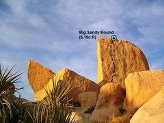 Rock Climbing Photo: Big Sandy Bound (aka The Wetlands President) (5.10...