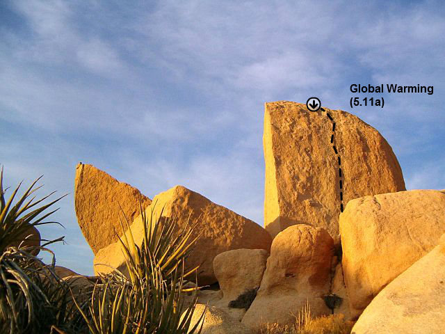 Global Warming (5.11a), Joshua Tree NP