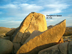 Rock Climbing Photo: Rangers in Space (5.11a), Joshua Tree NP
