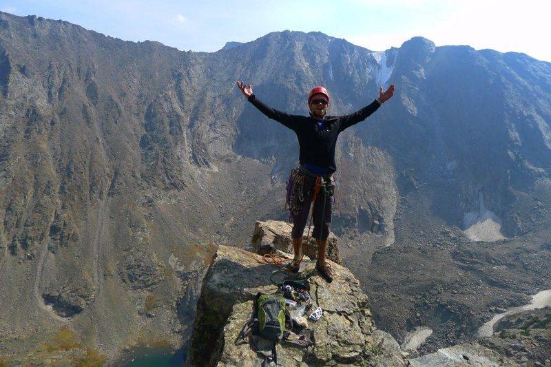 Rock Climbing Photo: Top of La Petit Grepon