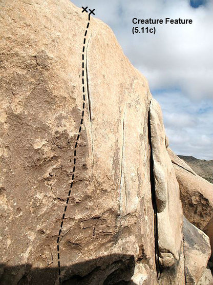 Creature Feature (5.11c), Joshua Tree NP