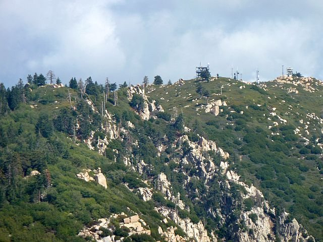 A view of the fire lookout, Keller Peak