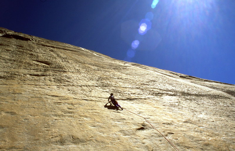 First Pitch of 'Little Nukey'....Rumoured to be the best 5.8 face pitch in the Sierra.