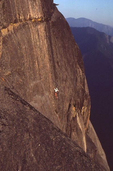 Rock Climbing Photo: A twilght ascent....after all the tourists have le...