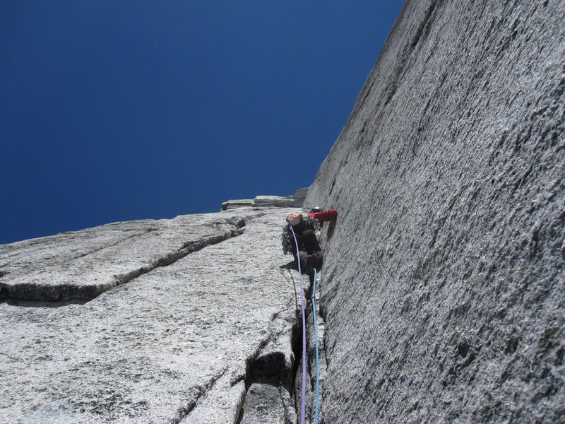 Truly amazing position and climbing. One of the best alpine rock routes in North America.