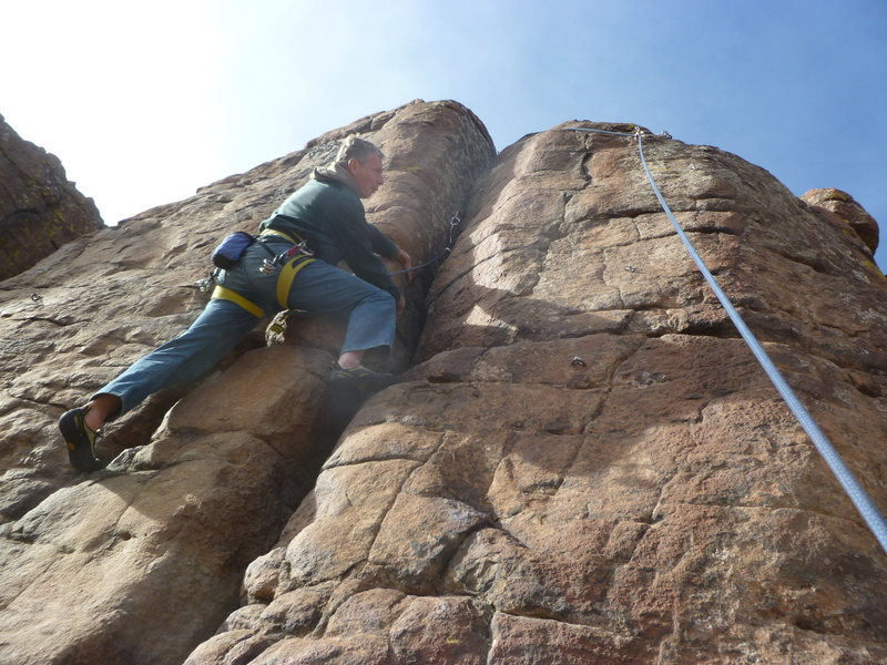"""Using the anchors on """"Bolt Line"""" for a top anchor."""
