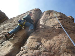 """Rock Climbing Photo: Using the anchors on """"Bolt Line"""" for a t..."""
