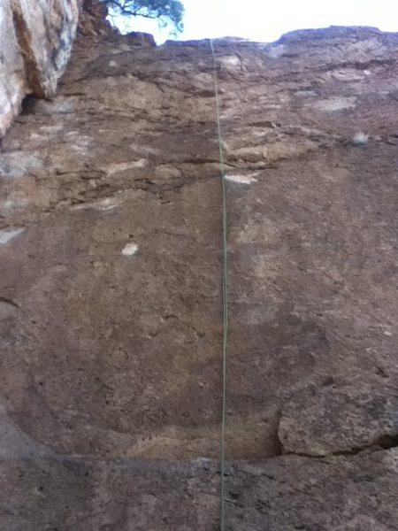 Rock Climbing Photo: Follow the rope line.