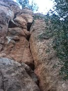 Rock Climbing Photo: Contest Crack 5.9, left of bolted routes. #26 in t...