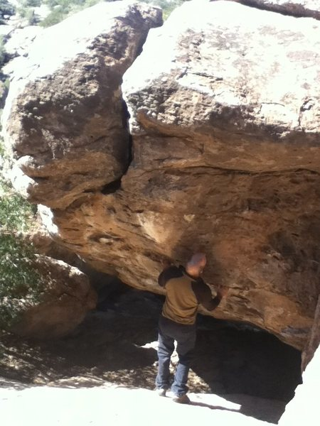 Rock Climbing Photo: Start down and right in a two hand slot.