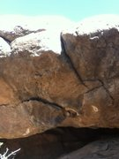 Rock Climbing Photo: Start on the flake.