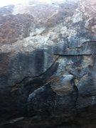 Rock Climbing Photo: Start on the lowest flake.