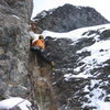 The steep fourth pitch.