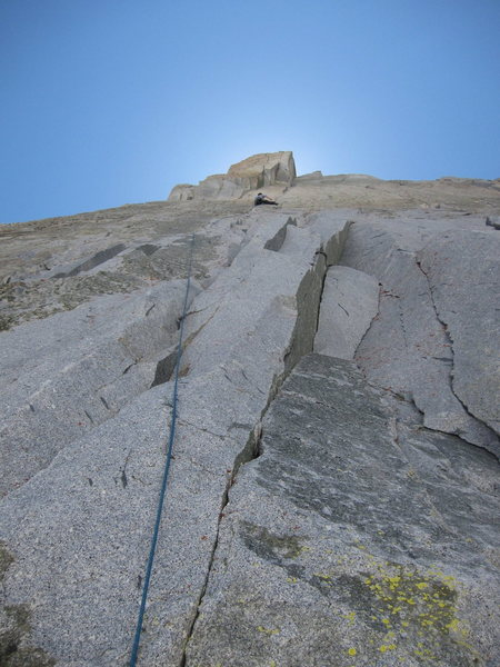 Third pitch on the North Buttress Var.