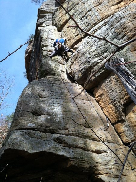 Rock Climbing Photo: Deliverance Corner  Somewhere below the Mason Dixo...