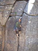 Rock Climbing Photo: the short cruxy bit