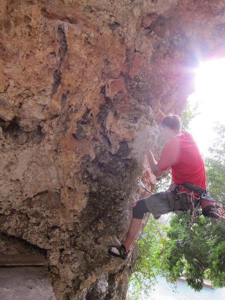 Matt G climbing