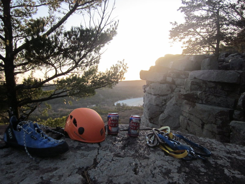 Gotta have your dales pale ale after a good day of climbing