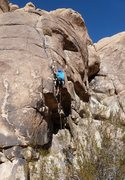 Rock Climbing Photo: Leading California Crack, with Morgan.  Photo by J...