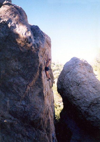 Rock Climbing Photo: Near the anchors on High-Jack (5.11c), Williamson ...