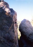 Rock Climbing Photo: Near the anchors on High-Jack (5.11c), Williamson ...