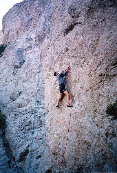 Clipping on Head-on Collision (5.12a), Williamson Rock