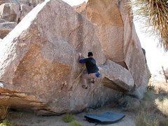Rock Climbing Photo: Elbow Grease (V1), Joshua Tree NP